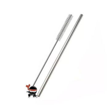 Canudo de metal 23 cm comprimento – Aço Inox