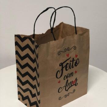 Sacolas de papel personalizadas baratas